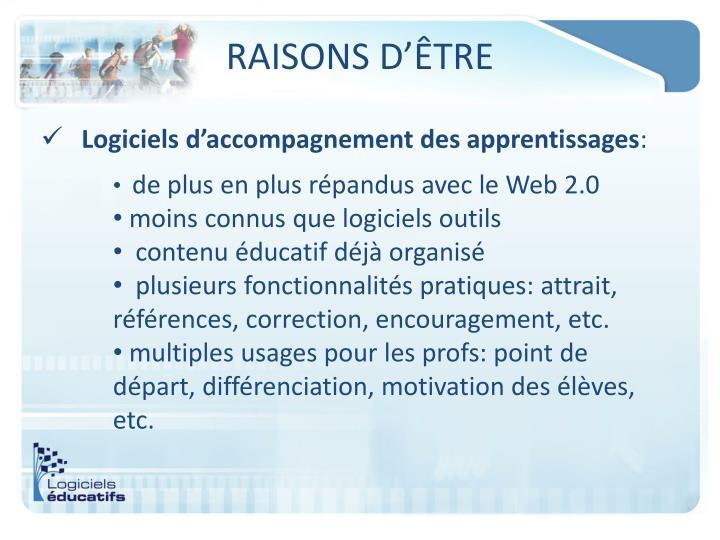 RAISONS D'ÊTRE
