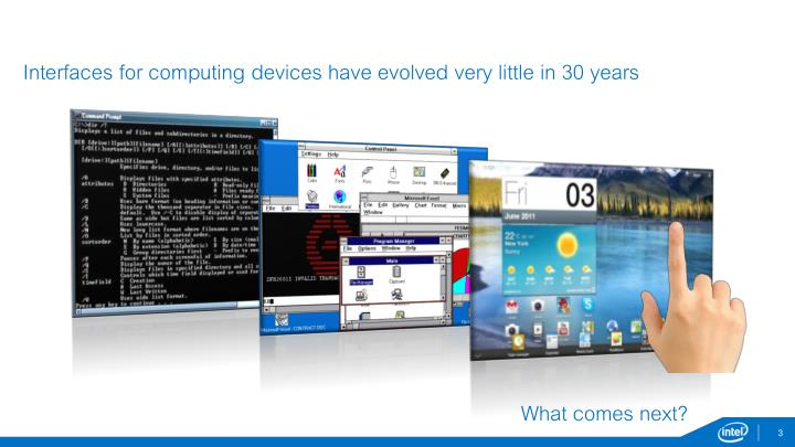 Interfaces for computing devices have evolved very little in 30 years