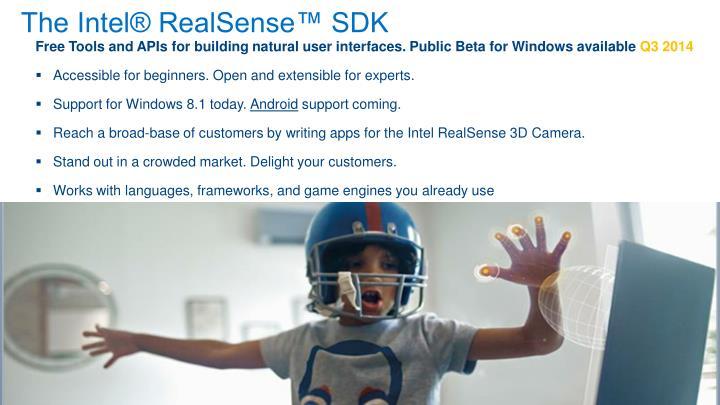 The Intel® RealSense™ SDK