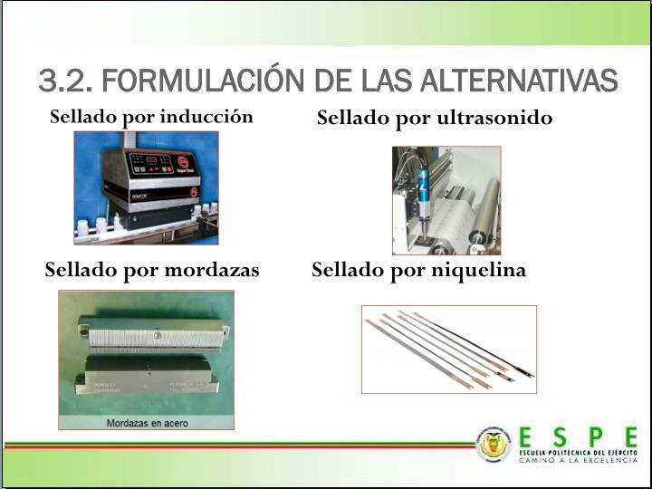 3.2. FORMULACIÓN DE LAS ALTERNATIVAS