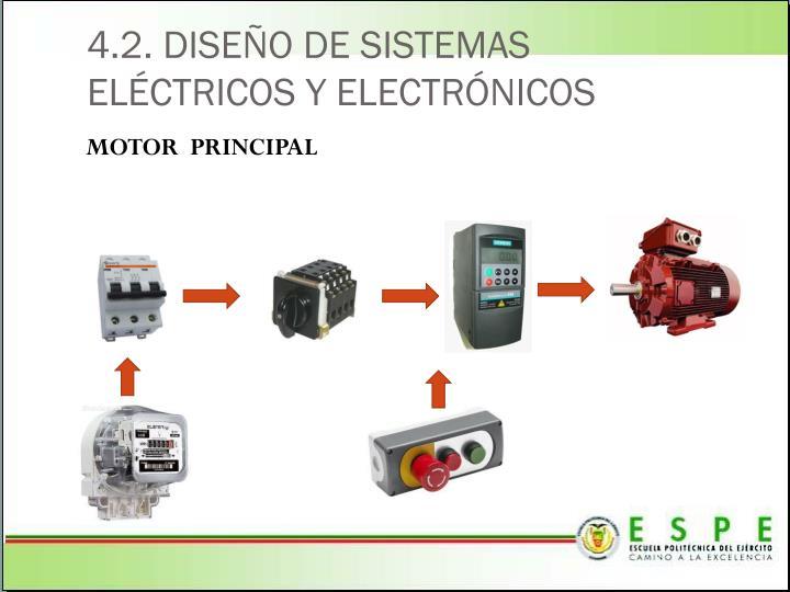 4.2. DISEÑO DE SISTEMAS ELÉCTRICOS Y ELECTRÓNICOS