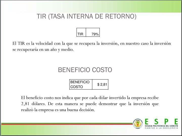 TIR (TASA INTERNA DE RETORNO)