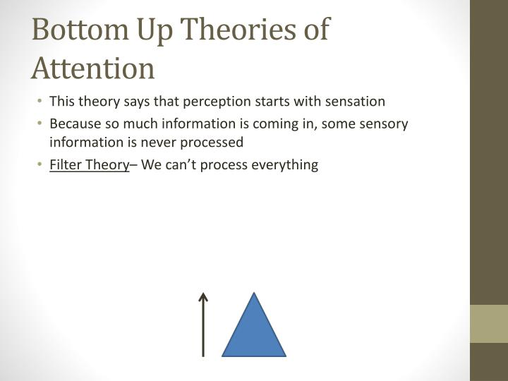 Bottom Up Theories of Attention