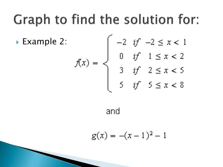 Graph to find the solution for: