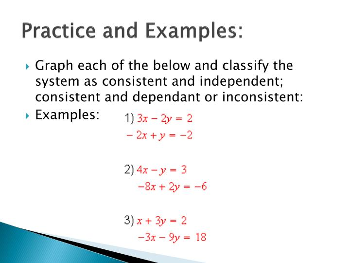 Practice and Examples: