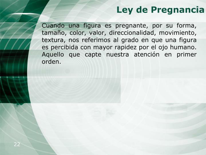 Ley de Pregnancia