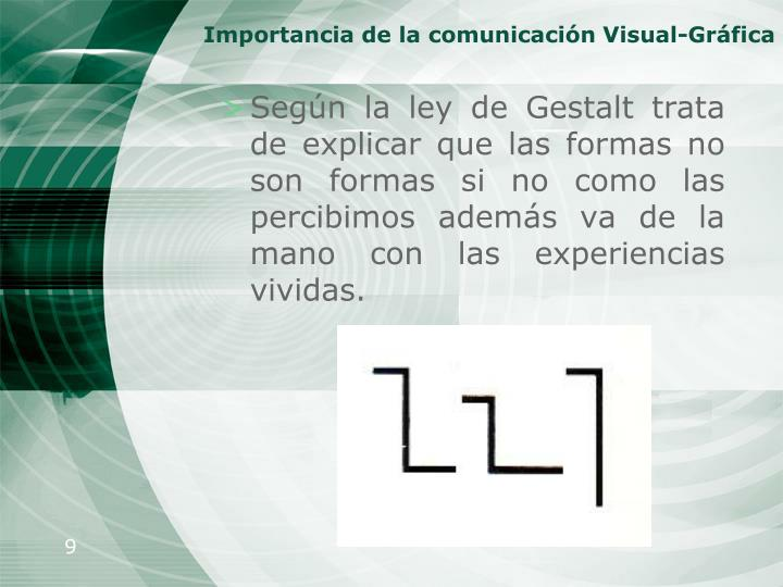 Importancia de la comunicación Visual-Gráfica