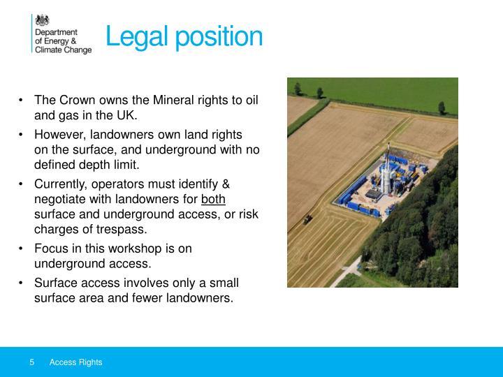 Legal position