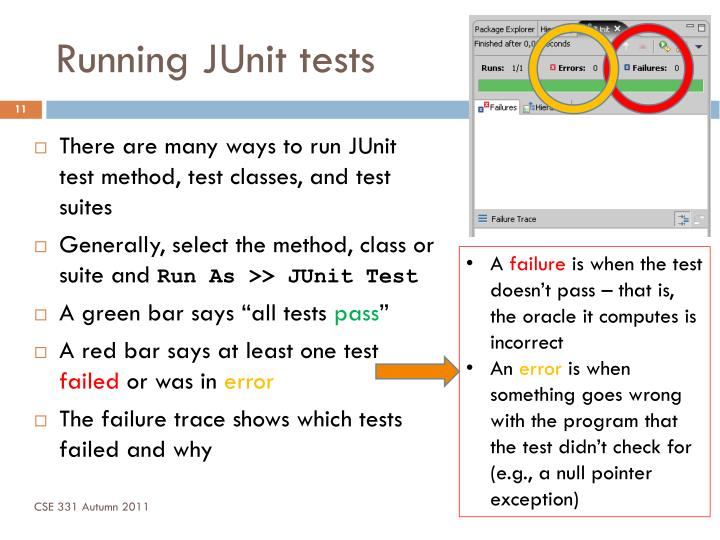 Running JUnit tests