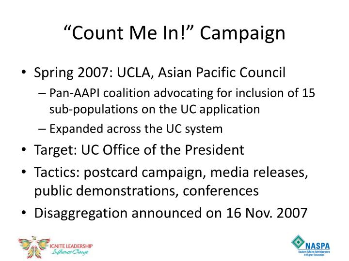 """Count Me In!"" Campaign"