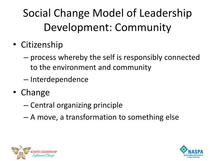 Social Change Model of Leadership Development: Community