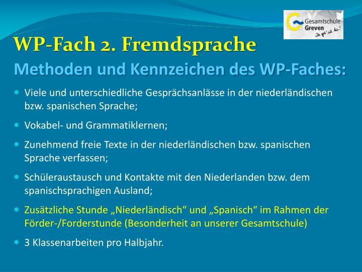 WP-Fach 2. Fremdsprache