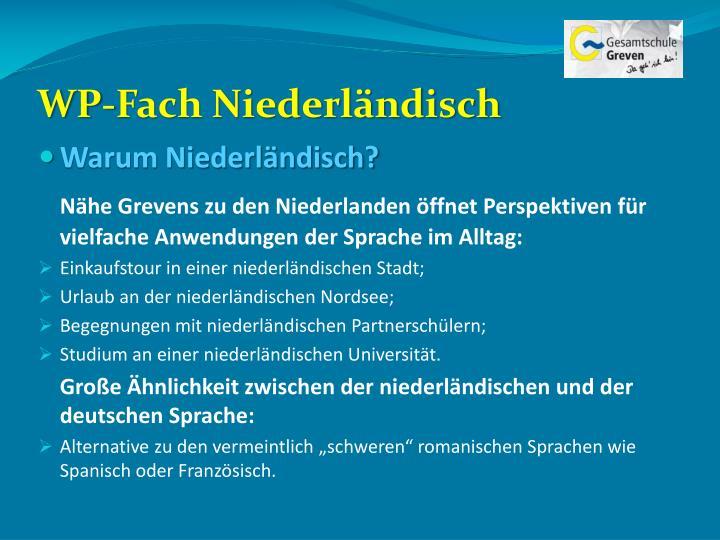 WP-Fach Niederländisch