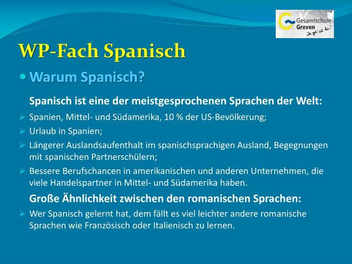 WP-Fach Spanisch