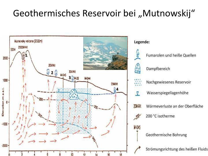 """Geothermisches Reservoir bei """"Mutnowskij"""""""