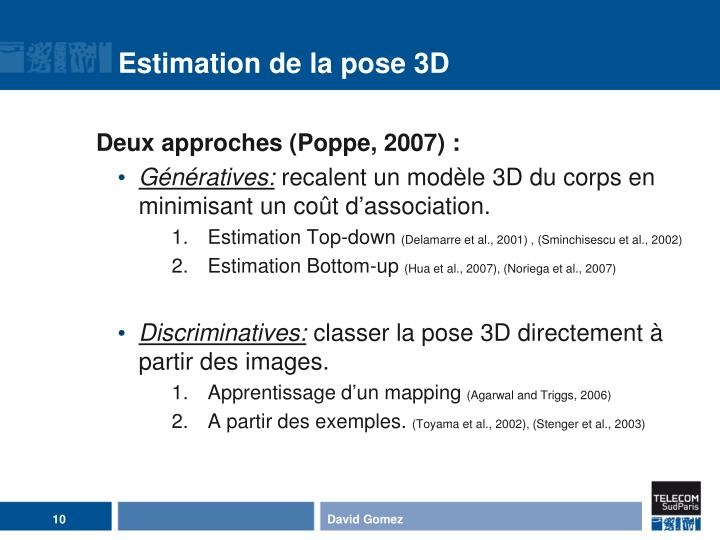 Estimation de la pose 3D