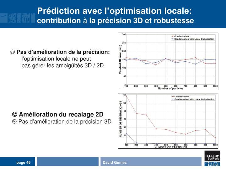 Prédiction avec l'optimisation locale:
