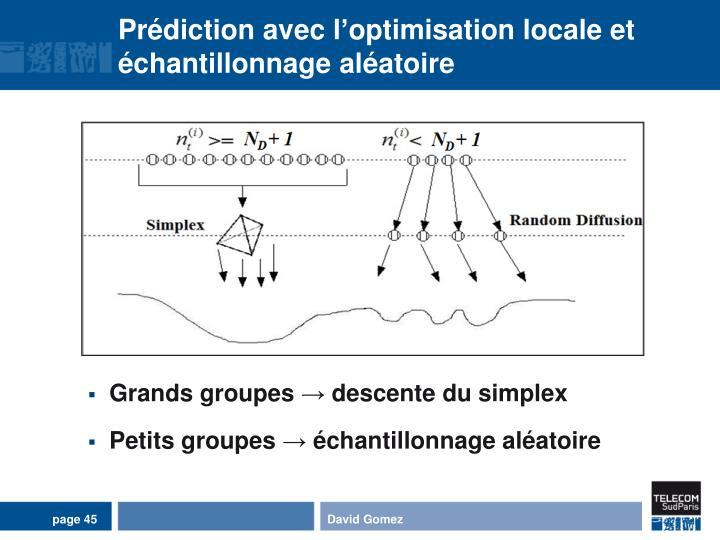 Prédiction avec l'optimisation locale et échantillonnage aléatoire