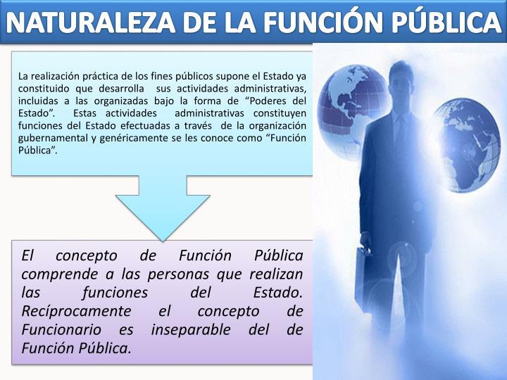 NATURALEZA DE LA FUNCIÓN PÚBLICA