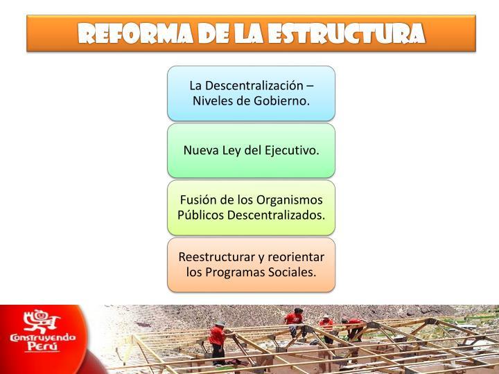 Reforma de la estructura
