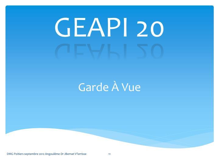 GEAPI 20