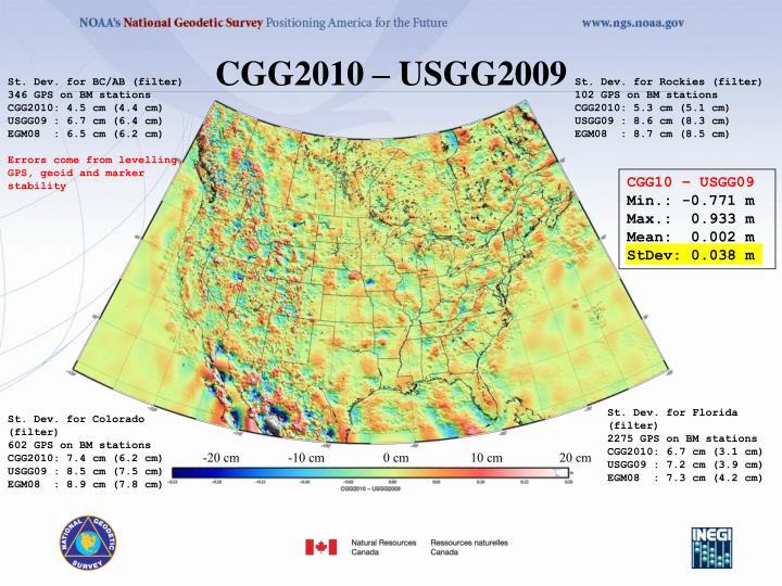 CGG2010 – USGG2009
