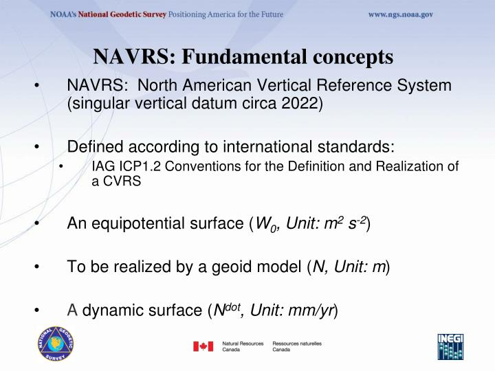 NAVRS: Fundamental concepts