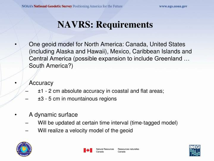 NAVRS: Requirements
