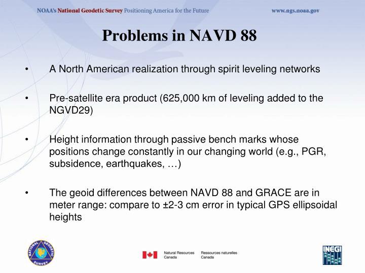 Problems in NAVD 88