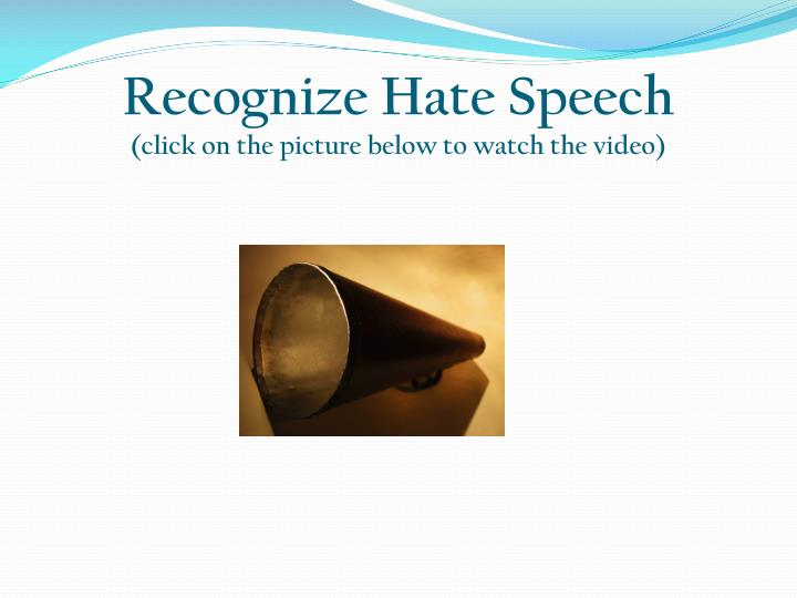 Recognize Hate Speech
