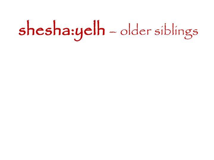 shesha:yelh