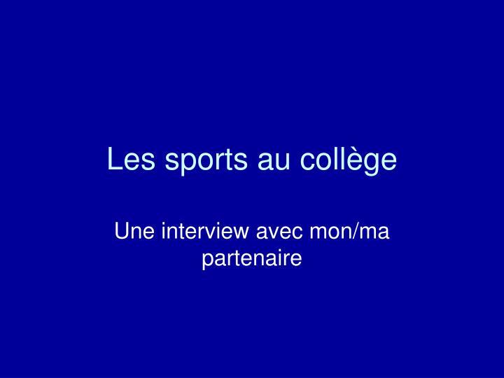 Les sports au
