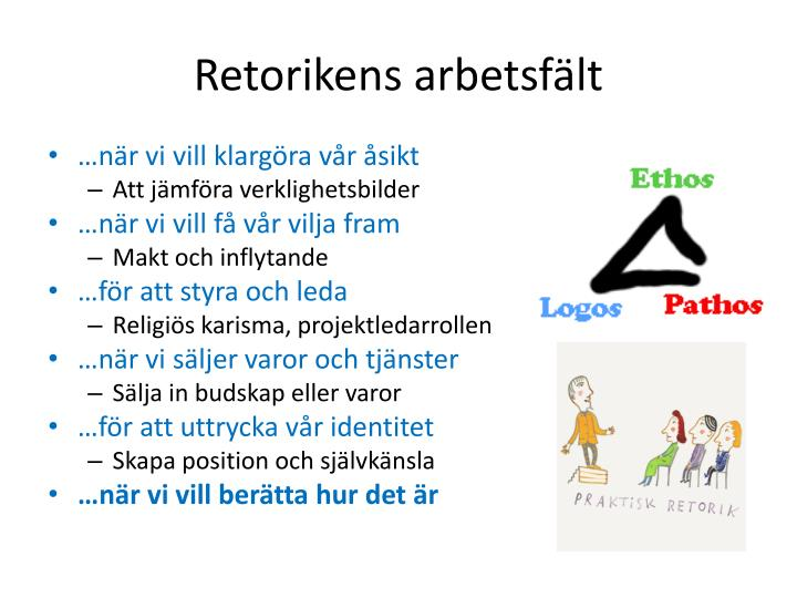 Retorikens arbetsf lt