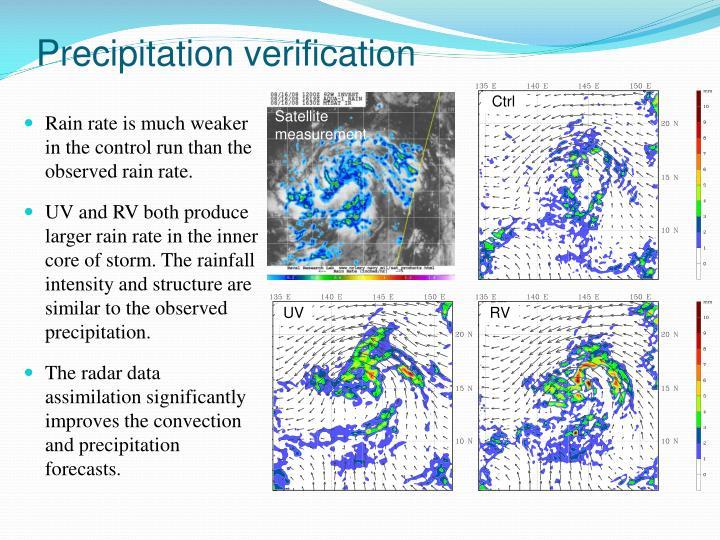 Precipitation verification
