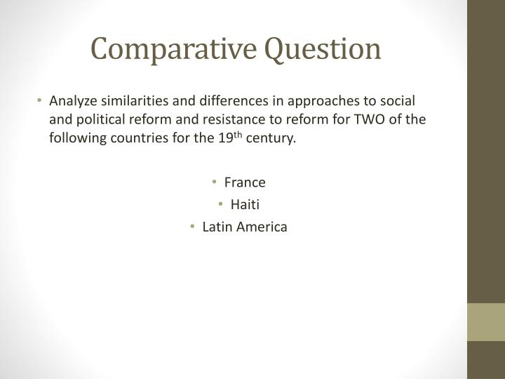 Comparative Question