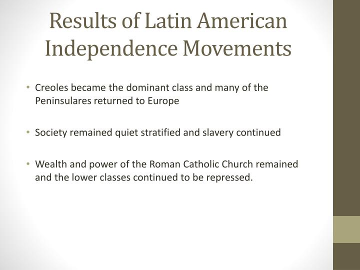 Results of Latin American Independence Movements