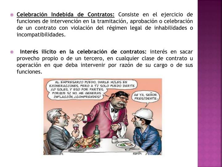 Celebración Indebida de Contratos: