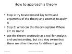 how to approach a theory
