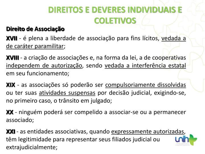 Direito de Associação