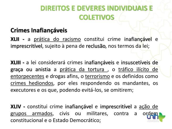 Crimes Inafiançáveis