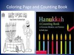 counting book coloring page and
