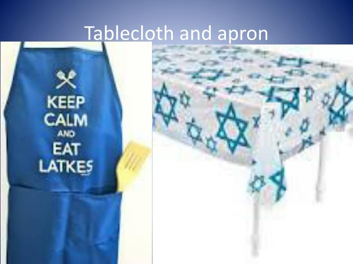 Tablecloth and apron