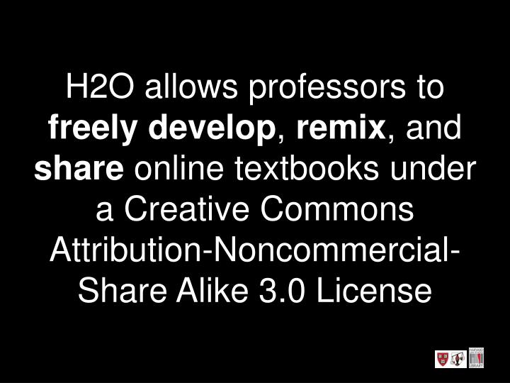 H2O allows professors to