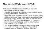 the world wide web html