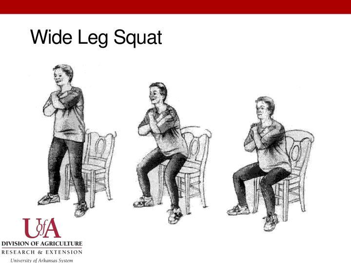 Wide Leg Squat