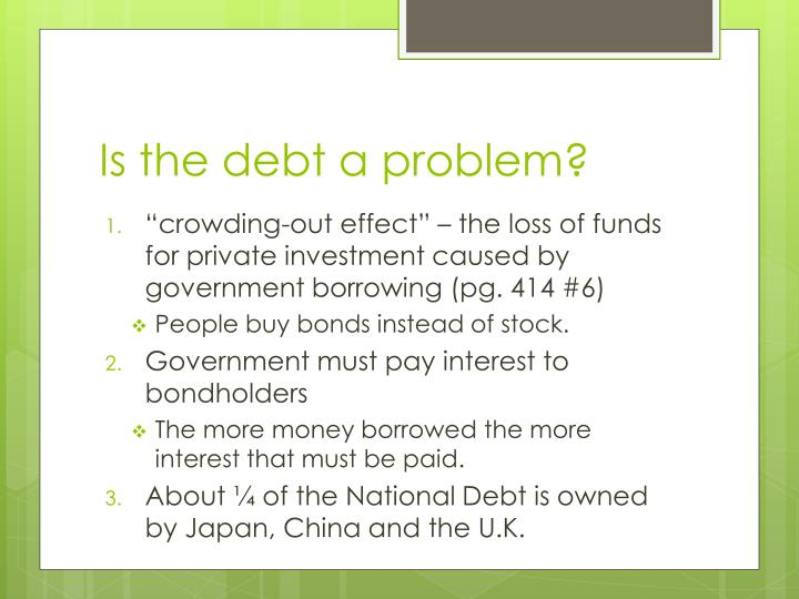 Is the debt a problem?
