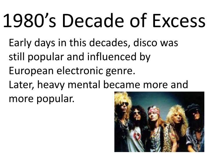 1980's Decade