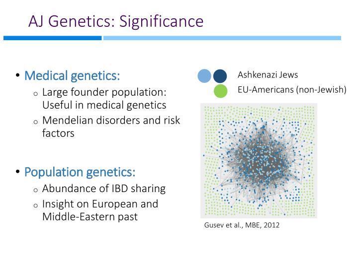 AJ Genetics: Significance