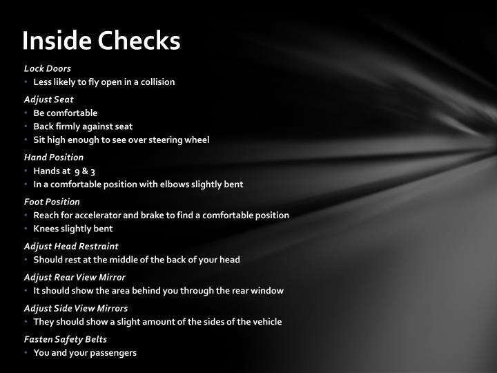 Inside Checks