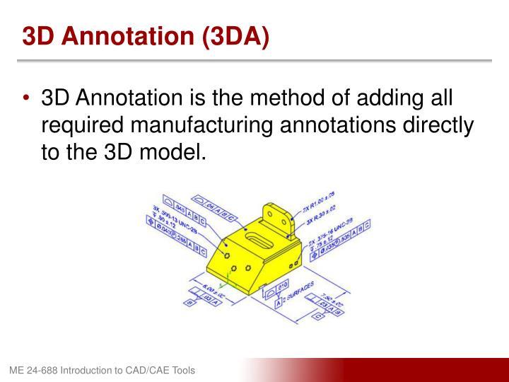 3D Annotation (3DA)
